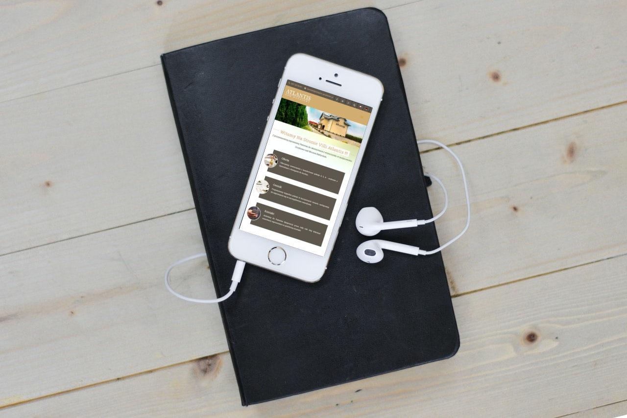 Portfolio BlueSky System: Budom Market - Dom Wczasowy Atlantis - Smartphone