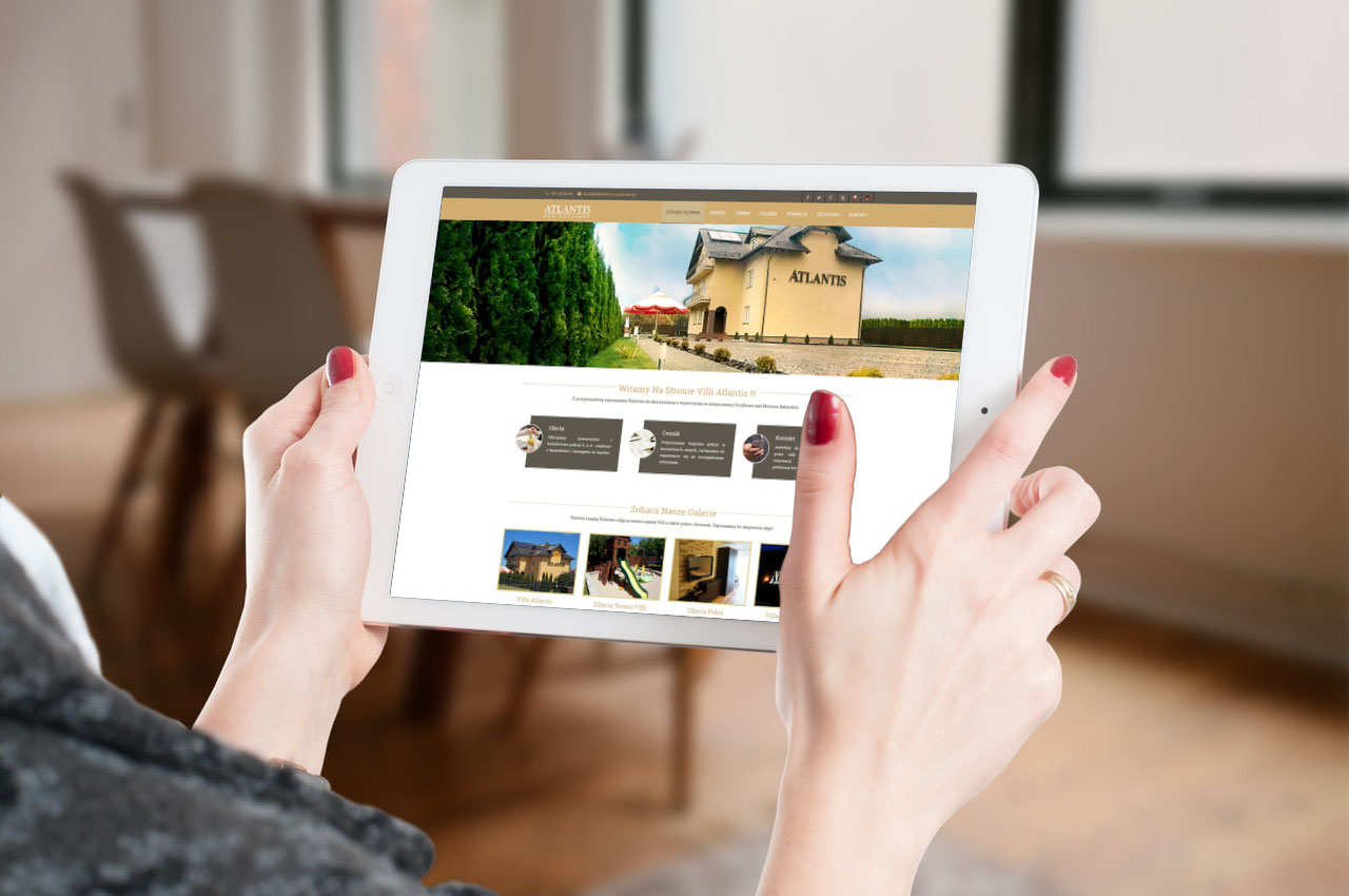 Portfolio BlueSky System: Budom Market - Dom Wczasowy Atlantis - Tablet
