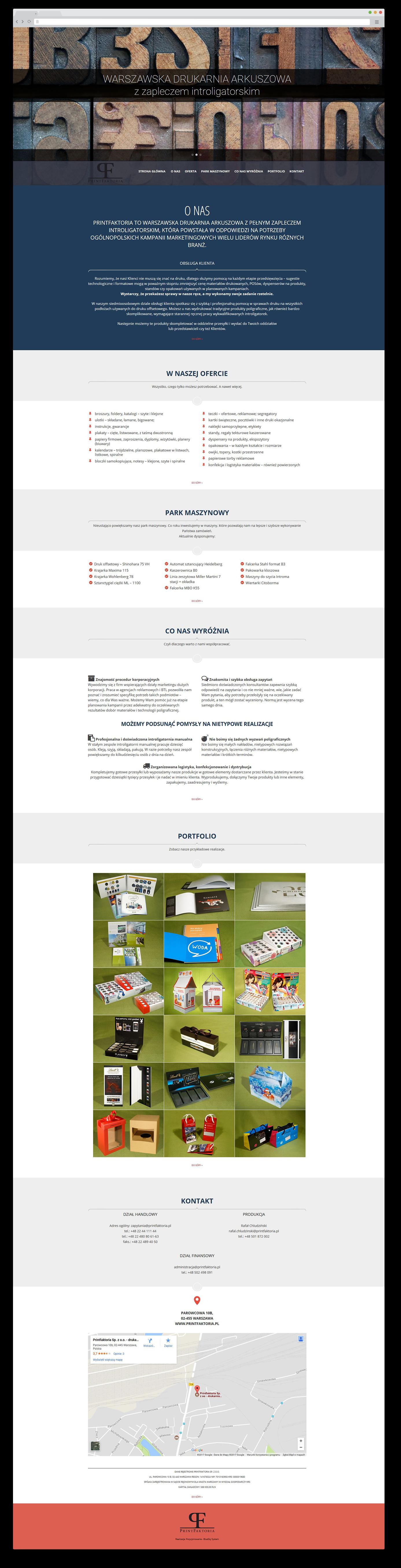 Portfolio BlueSky System Drukarnia PrintFaktoria - FULL