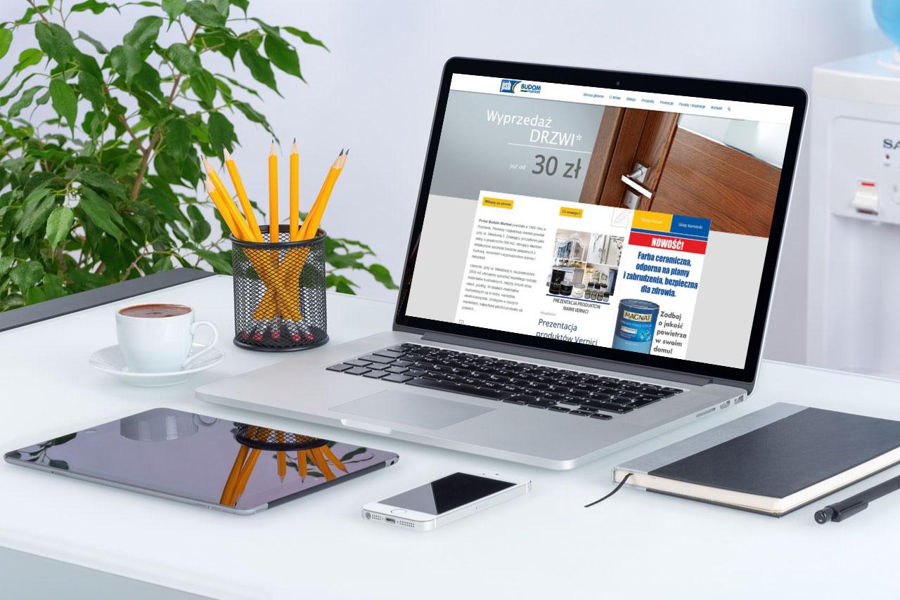 Portfolio BlueSky System: Budom Market - Grupa PSB S.A. - Laptop
