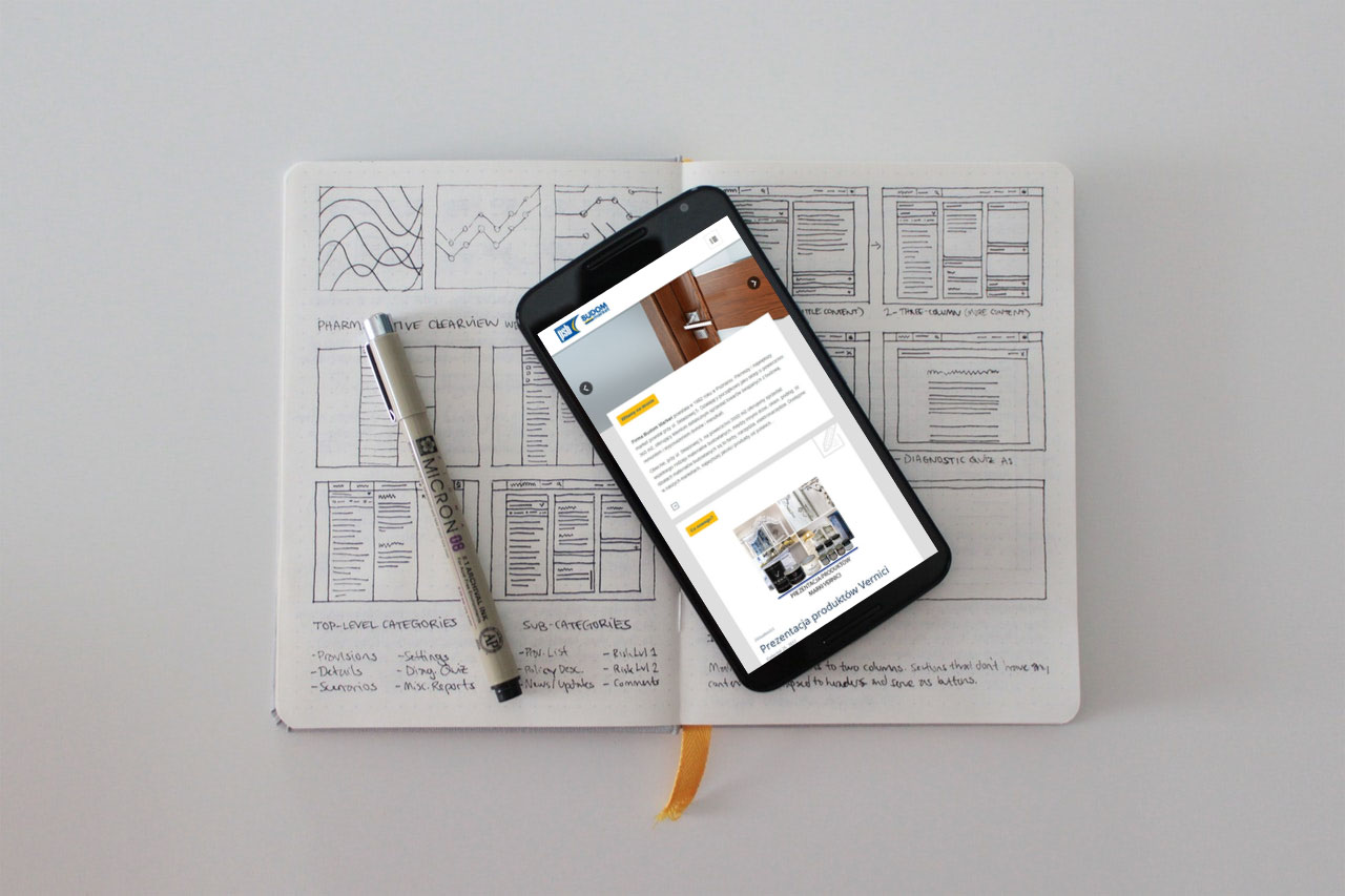 Portfolio BlueSky System: Budom Market - Grupa PSB S.A. - Smartphone