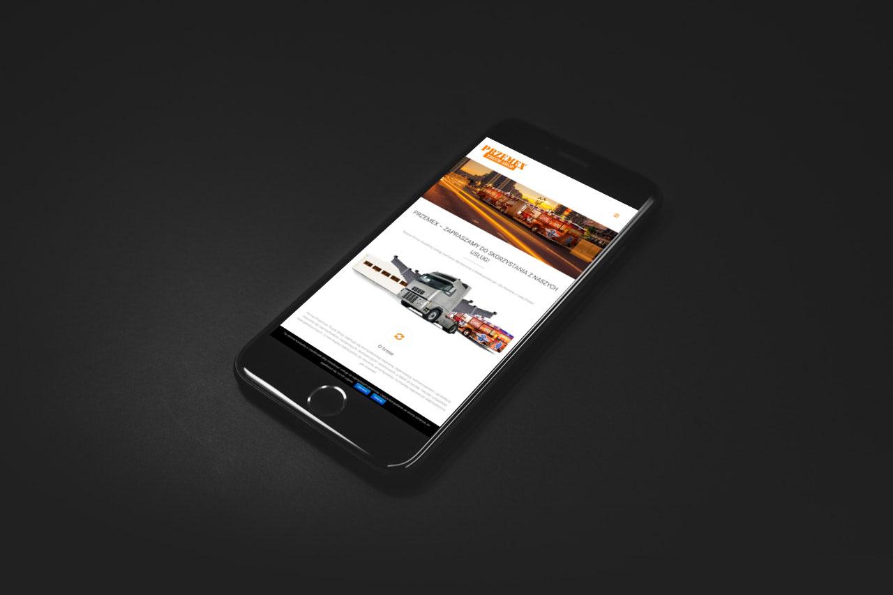 Portfolio BlueSky System: Przemex Truck Shop - Smartphone