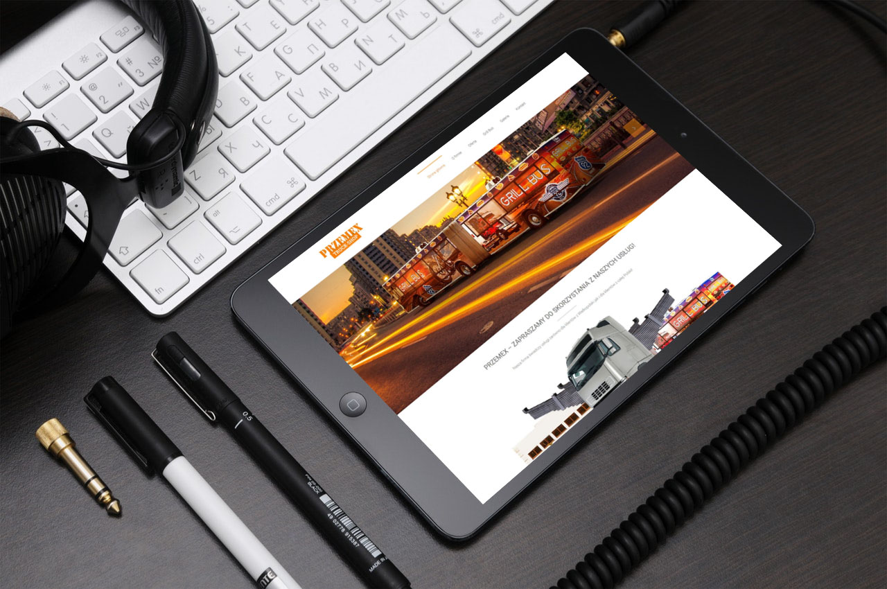 Portfolio BlueSky System: Przemex Truck Shop - Tablet