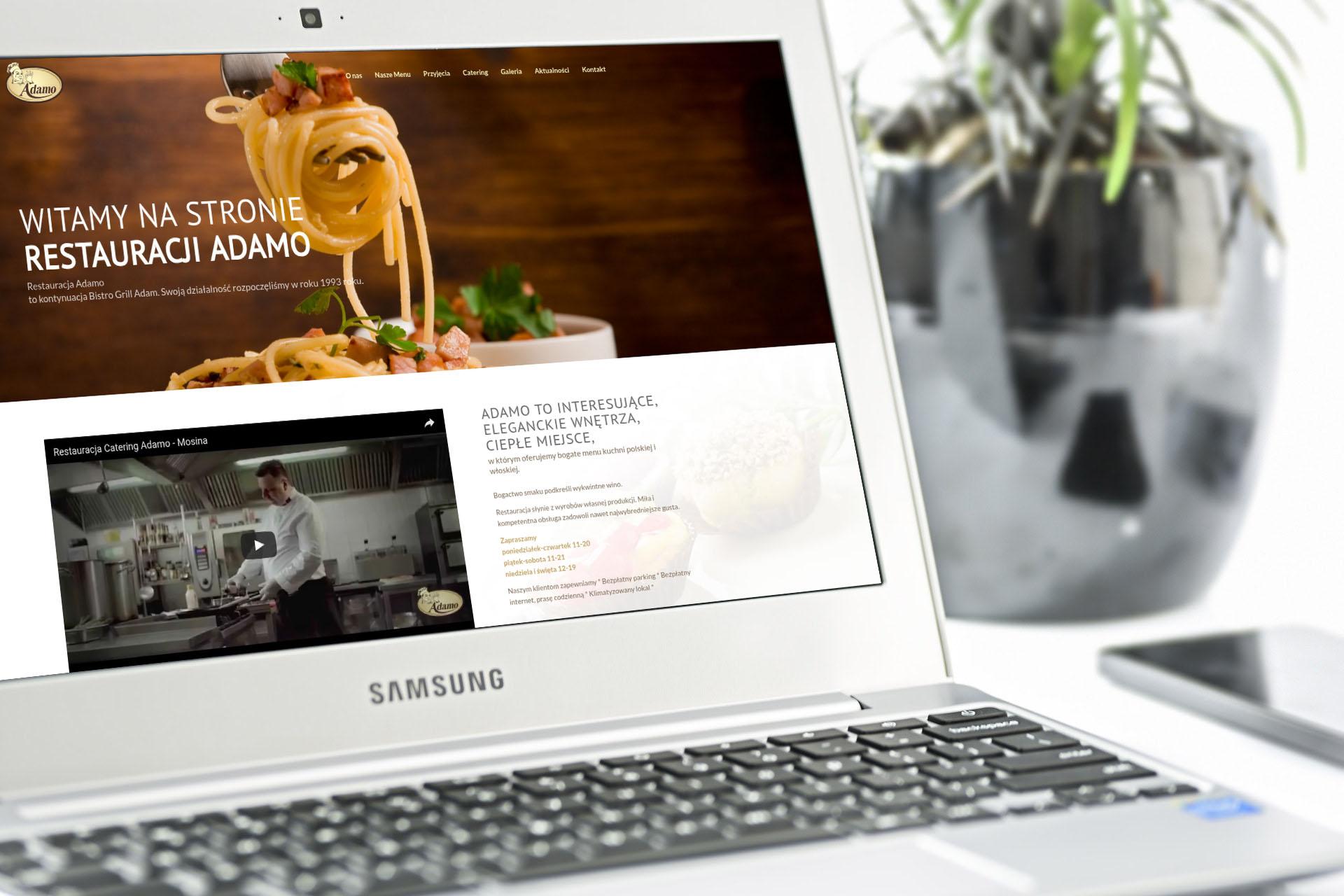 Portfolio BlueSky System: Restauracja Adamo - Laptop