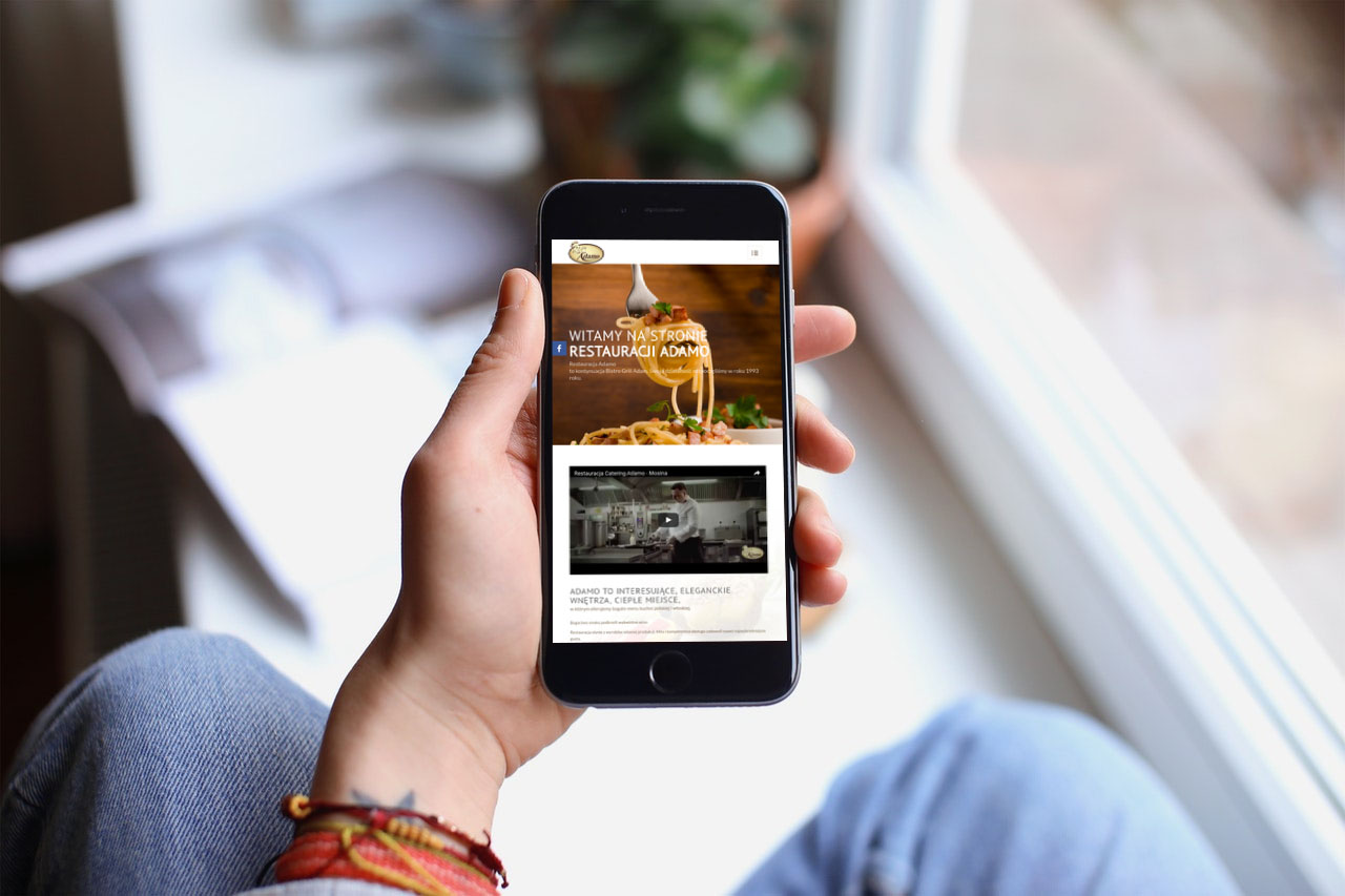 Portfolio BlueSky System: Restauracja Adamo - Smartphone