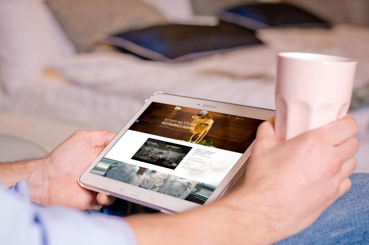Portfolio BlueSky System: Restauracja Adamo - Tablet