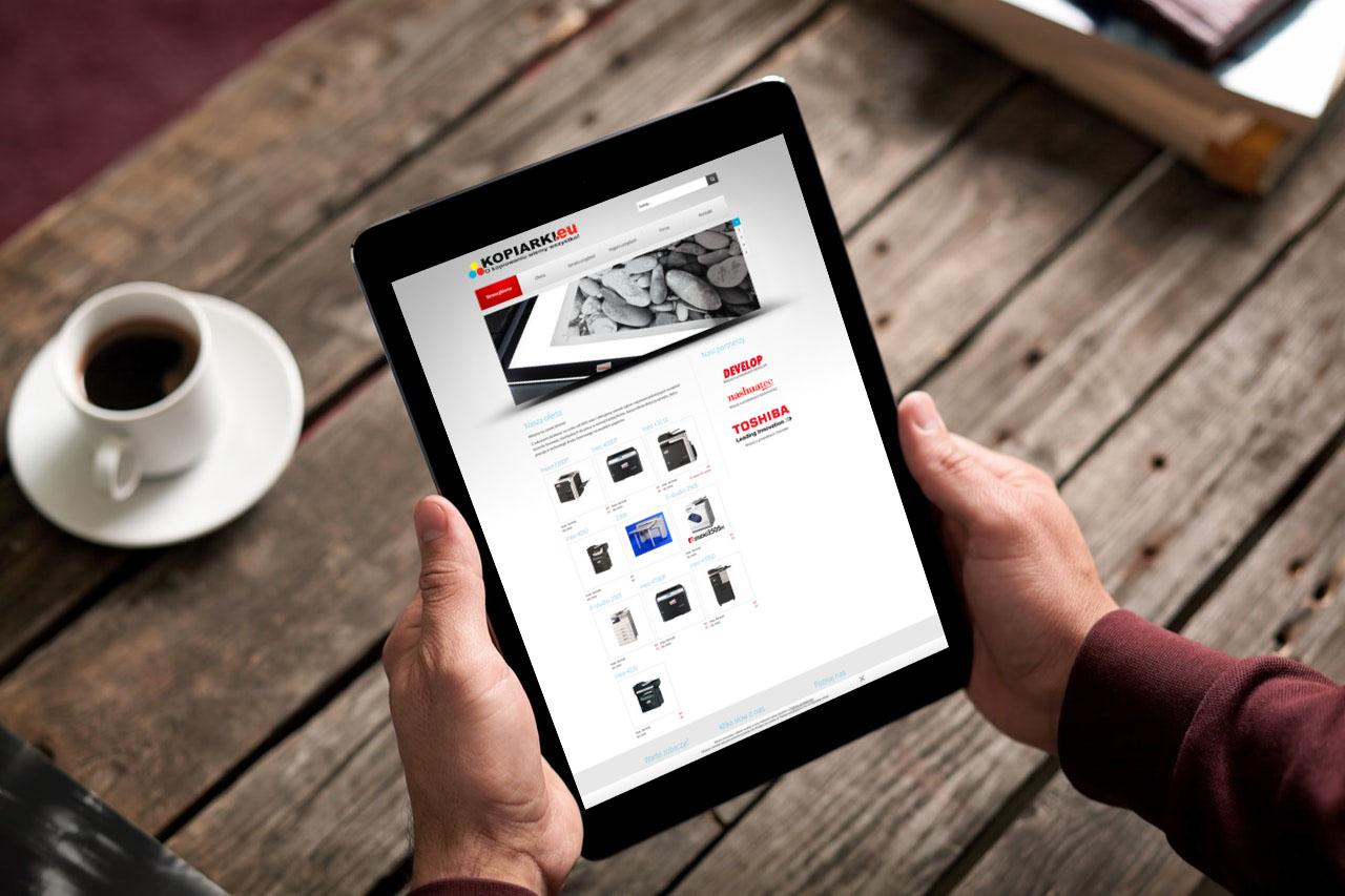 Portfolio BlueSky System: kopiarki.eu - Tablet